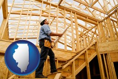 illinois a custom home builder reviewing construction plans