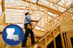 louisiana a custom home builder reviewing construction plans