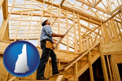 new-hampshire a custom home builder reviewing construction plans