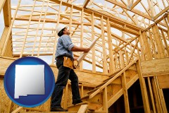new-mexico a custom home builder reviewing construction plans