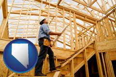 nevada a custom home builder reviewing construction plans