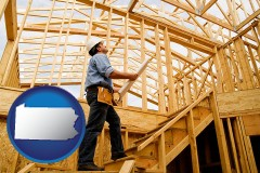 pennsylvania a custom home builder reviewing construction plans